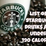 Starbucks Drinks: All Under 190 Calories