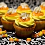 Candy Corn Cupcakes with Vanilla Bean Buttercream Frosting