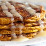 Sunday Brunch: Pumpkin Cinnamon Swirl Pancakes with Cream Cheese Glaze