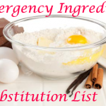 Emergency Ingredient Substitution List