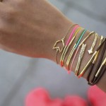 DIY Gold Tube Bracelet