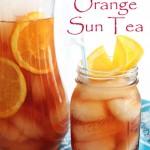 Raspberry Orange Sun Tea with Nectresse