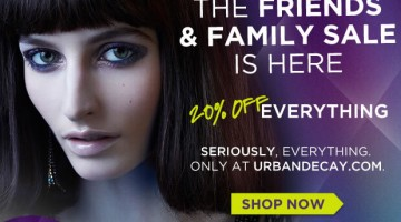Urban Decay Friends & Family 20% Off Sale!