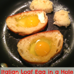 Sunday Brunch: Italian Loaf Egg in a Hole & Baked Bacon
