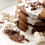 Sunday Brunch: S'mores Pancakes with Marshmallow Glaze