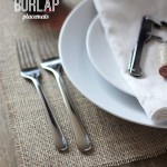 Quick & Easy Burlap Placemats