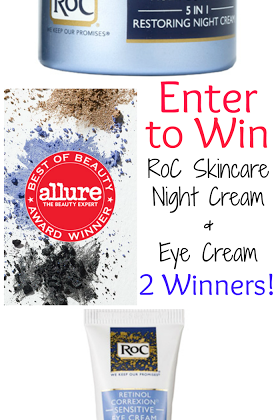 Allure Magazine Beauty Winners 2013 & RoC Skincare Giveaway