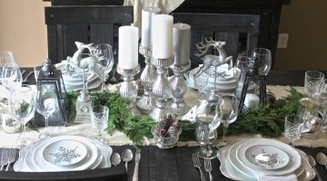 Vintage Christmas Tablescape