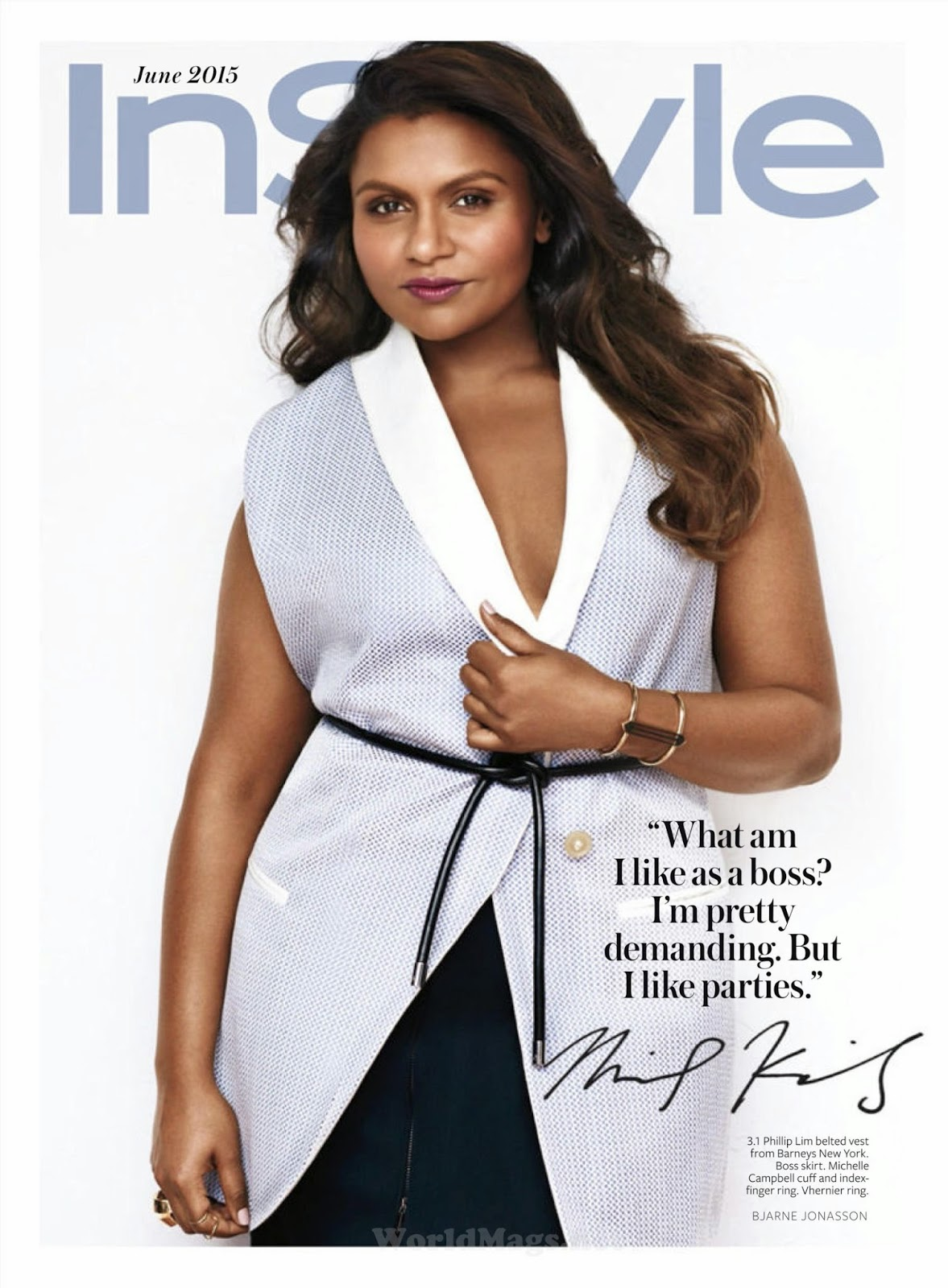 a17d7023120a1 Mindy Kaling Covers June 2015 InStyle - MyThirtySpot