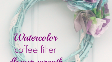 Watercolor Coffee Filter Flower Wreath