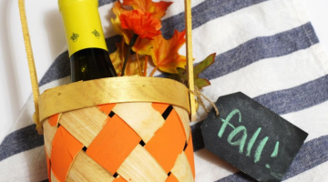 Easy Hostess Gift: Fall Wine Tote