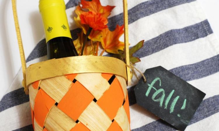 Easy Hostess Gift: Fall Wine Tote
