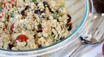 Quinoa & Vegetable Salad with Red Wine Vinaigrette