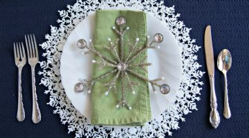 Snowflake Plate Charger