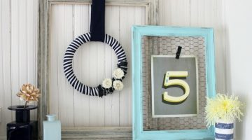 Navy & White Spring (and Summer) Wreath