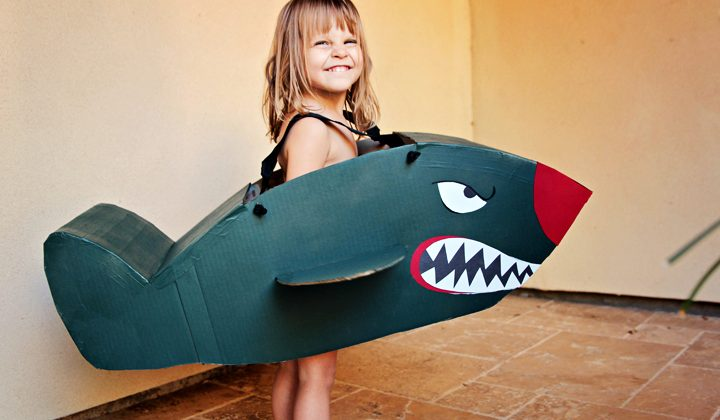 DIY Bomber Airplane Costume
